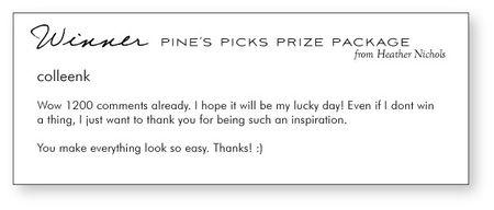 Pine's-winner