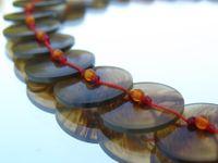 Tortoise button necklace