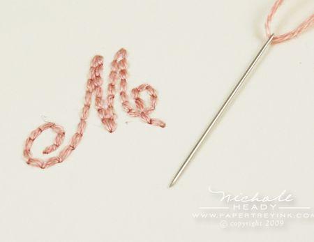 Stitched monogram