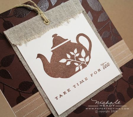 Tea Time tag closeup