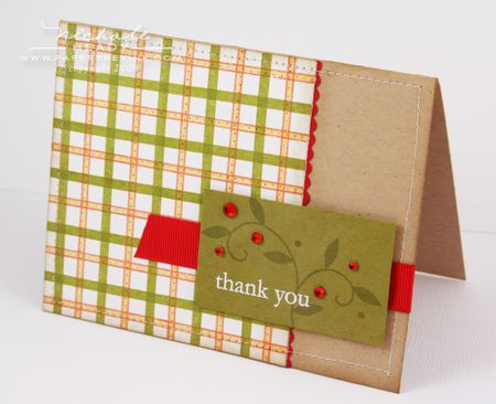 Plaid Thank you card