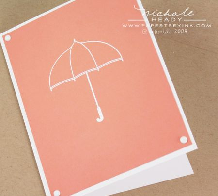 Embossed word umbrella