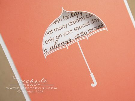 Word umbrella closeup