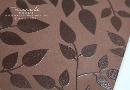 Embossed leaves