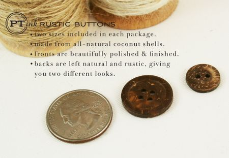 Rustic button sizes