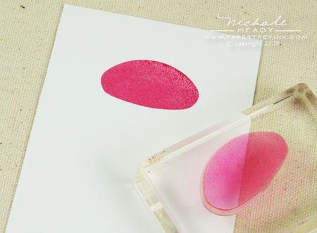 Stamping cupcake top