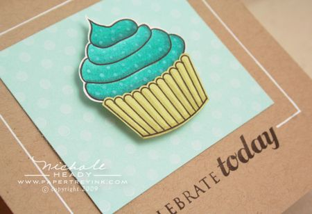 Colored cupcake closeup