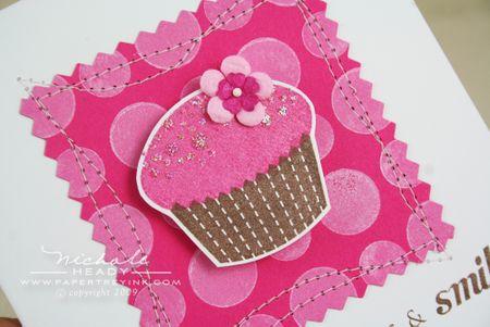 Sparkle cupcake closeup