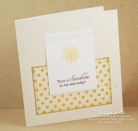 Sunshine in my Soul card