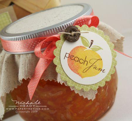 Peach Jam label