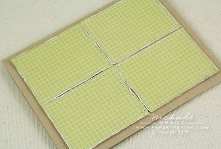 Pieced card front