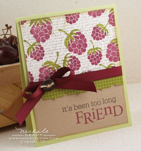 Raspberry Friends card