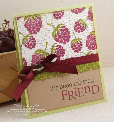 Raspberry Friends card