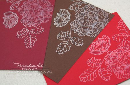 Stamped floral trio