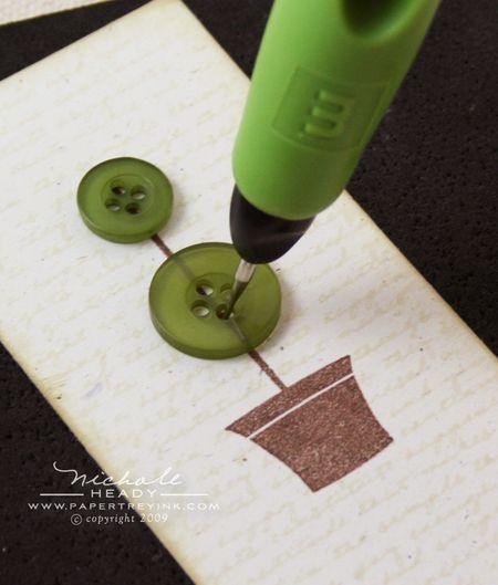 Piercing button holes