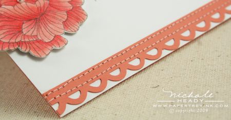 Punched & stitched border