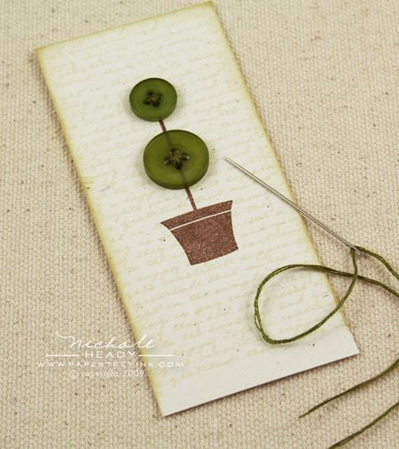 Stitched topiary buttons
