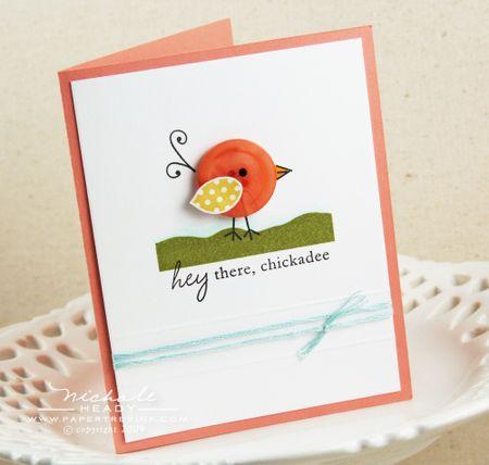 Hey there chickadee card