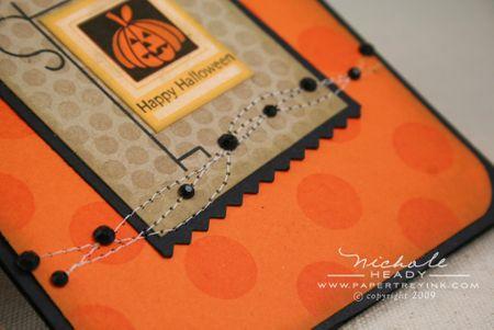 Halloween rhinestones closeup