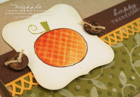 Gingham pumpkin closeup