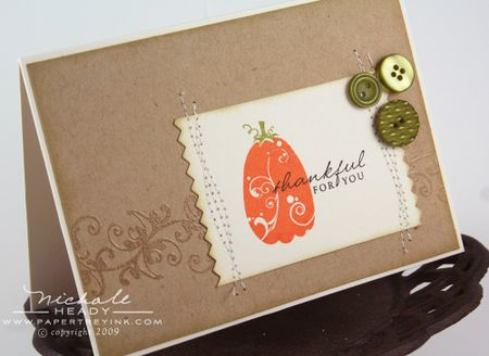 Thankful Pumpkin Card