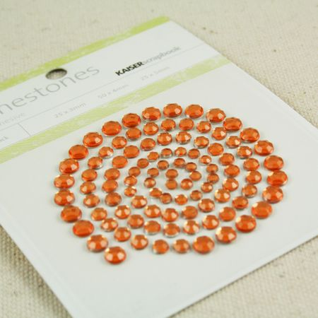 Rhinestones orange