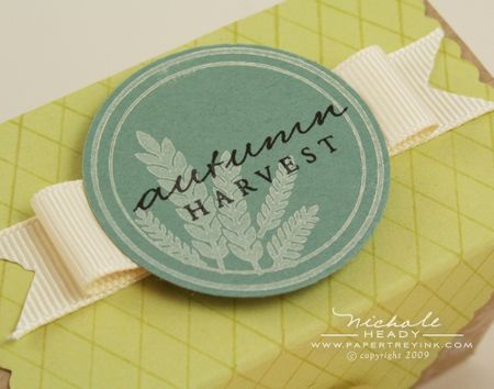 Autumn Harvest Tag closeup