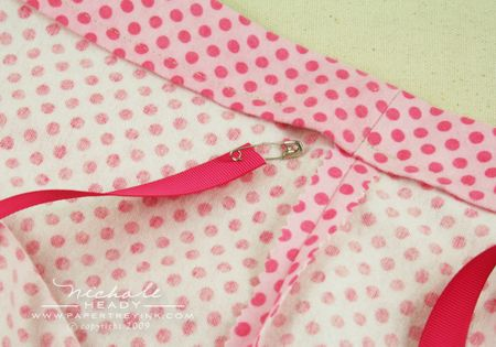 Safety pin ribbon end