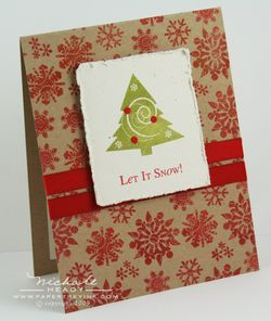 Let it Snow Tree card