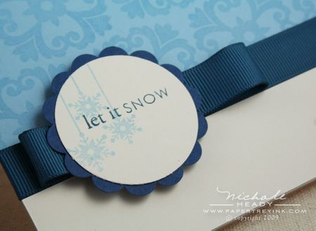 Let it snow card tag