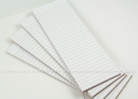 White Notepads