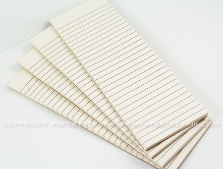 Vintage Cream Notepads