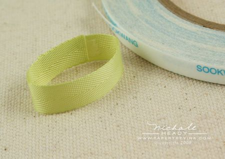 Taping ribbon loop