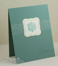 Tis the Season Snowflake card