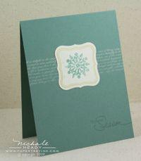 Tis the Season Snowflake card