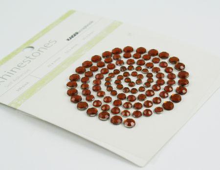 Brown rhinestones