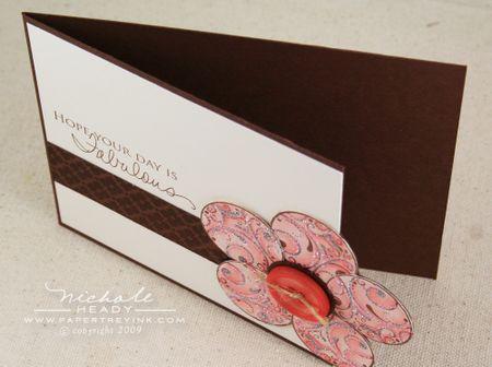 Glitter flower card fold