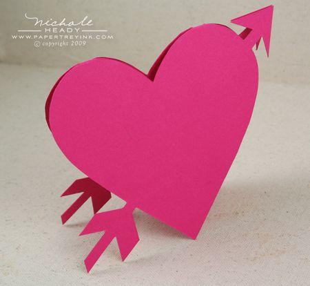Blankl heart card