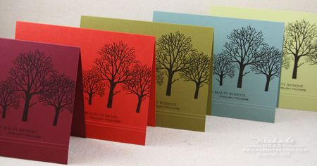 Peace card ensemble