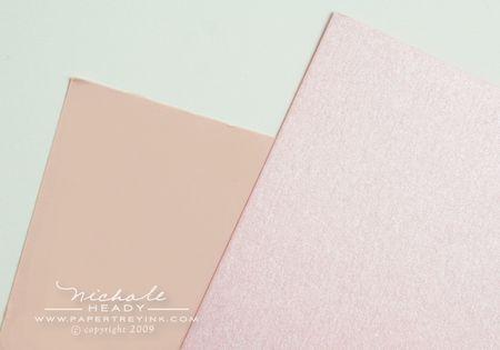 Sweet blush & shimmer pink