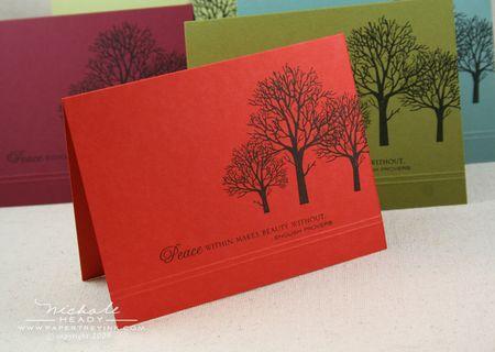 Terracotta Tile Peace card