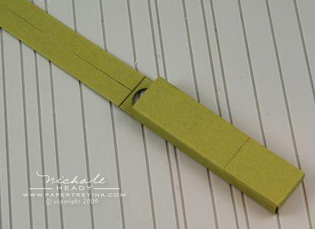 Pencil bottom tab adhered