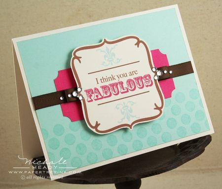 Fabulous Rhinestone card