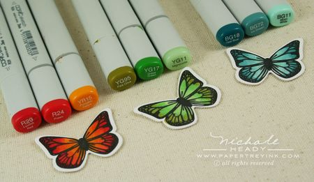 Coloring rainbow butterflies