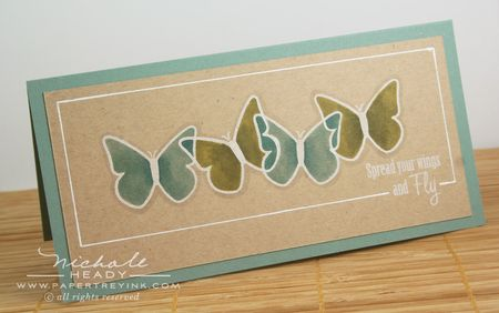 Gradient Butterfly Card