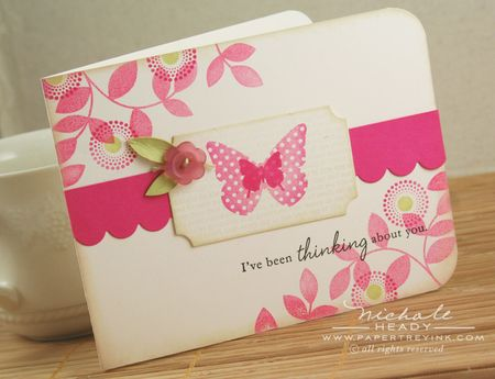 Butterfly Button card