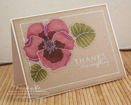 Violet thanks card