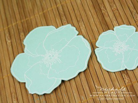 Cut out aqua flowers