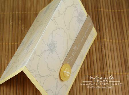 Lemon tart card down view