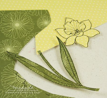 Paper piecing daffodils
